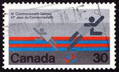 Briefmarke kanada 1978 badminton, sport — Stockfoto