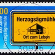Postage stamp Germany 1875 Herzogsagmuhle, Social Welfare Organi — Stock Photo