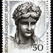 Postage stamp Germany 1967 Head of Victory from Brandenburg Gate - Stock Photo