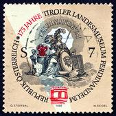 Znaczek austria 1998 ferdinandeum, Federalne Muzeum Tyrolu — Zdjęcie stockowe