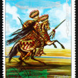 Postage stamp Paraguay 1977 Indian on Horse, US — Stock Photo