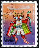 Postage stamp Paraguay 1977 Ceremonial Indian Costume, Bolivia — Stock Photo