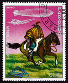 Postage stamp Paraguay 1977 Argentinian Gaucho — Stock Photo