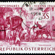 Royalty-Free Stock Photo: Postage stamp Austria 1964 Changing Horses at Bavarian Border