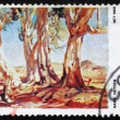 Postage stamp Australia 1974 Red Gums of the Far North - Zdjęcie stockowe