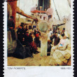 Postage stamp Australia 1977 Coming South (Immigrants) - Zdjęcie stockowe