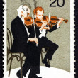 Postage stamp Australia 1977 Violinists, Performing Arts - Zdjęcie stockowe