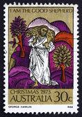 Postage stamp Australia 1973 The Good Shepherd, Christmas — Stock Photo