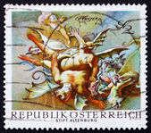 Postage stamp Austria 1968 Vanquished Demons, by Paul Troger — Stock Photo