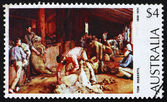 Postage stamp Australia 1974 Shearing the Rams — Stock Photo