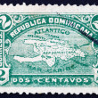 Postage stamp Dominican Republic 1900 Map of Hispaniola — Stock Photo