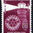 Stock Photo: Postage stamp CostRic1956 Lighthouse, Rotary International
