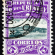 Postage stamp Uruguay 1919 Harbor of Montevideo — Stock Photo