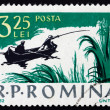 Postage stamp Romania 1962 Fishing Scene, Recreation — Stock Photo #17975005