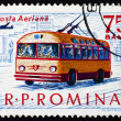 Postage stamp Romania 1963 Trolley Bus, Transport — Stock Photo