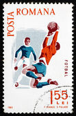 Postage stamp Romania 1965 Soccer, Spartacist Games — Foto de Stock
