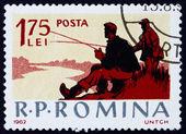 Znaczek rumunia 1962 połowów sceny, rekreacja — Zdjęcie stockowe