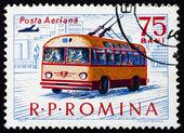 Postage stamp Romania 1963 Trolley Bus, Transport — Stock Photo