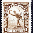 Postage stamp Costa Rica 1910 Juan Santamaria, National Hero - Stock Photo