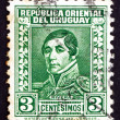 Postage stamp Uruguay 1934 General Rivera, President - Stock Photo