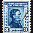 Postage stamp Uruguay 1928 Artigas, General and Patriot — Stock Photo