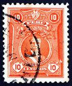 Postage stamp Peru 1924 Augusto Leguia, President — Stock Photo