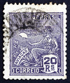 Postage stamp Brazil 1929 Allegory of Aviation — Stock Photo