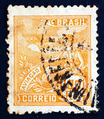 Postage stamp Brazil 1926 Allegory of Aviation — Stock Photo