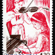 Stock Photo: Postage stamp Romani1962 Girl and Boy Playing