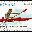 Stock Photo: Postage stamp Romani1965 Canoeing