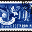 Foto de Stock  : Postage stamp Romani1963 Beech Forest and Branch