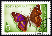 Postage stamp Romania 1969 Lesser Purple Emperor, Butterfly — Stock Photo