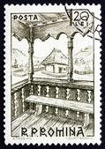 Postage stamp Romania 1963 Bacau, 19th Century, Peasant House — Stock Photo