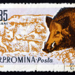Postage stamp Romania 1961 Boar, Sus Scrofa, Animal — Foto de Stock