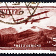 Stock Photo: Postage stamp Romani1931 Biplane