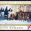 Postage stamp Romania 1976 Washington at Walley Forge — Stock Photo