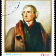 Stock Photo: Postage stamp Romani1976 Thomas Jefferson, Portrait