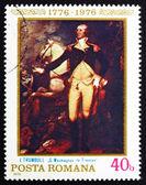 Postage stamp Romania 1976 Washington at Trenton — Stock Photo