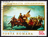 Postage stamp Romania 1976 Washington Crossing the Delaware — Stock Photo