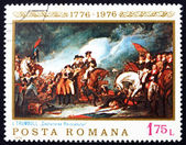 Postage stamp Romania 1976 The Capture of the Hessians — Stock Photo