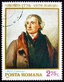 Postage stamp Romania 1976 Thomas Jefferson, Portrait — Stock Photo