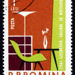 Postage stamp Romania 1962 Furniture, Industrial Design — Stock Photo