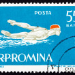 Postage stamp Romania 1963 Swimming, Butterfly Stroke — Stock Photo #18316025