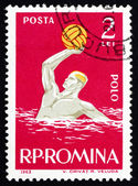 Estampilla Rumania 1963 water-polo, deporte — Foto de Stock