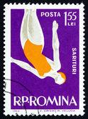 邮票 1963年罗马尼亚女人潜水员 — 图库照片