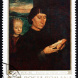Postage stamp Romania 1969 Man Reading and Child, by Memling — Stock Photo #18530505