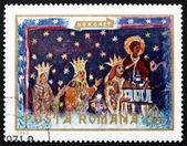 Timbre-poste Roumanie 1969 Etienne le grand et la famille, fresque — Photo