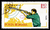 Postage stamp Romania 1965 Small-bore Rifle, Standing — Stock Photo