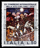 Postage stamp Italy 1974 October, 15th Century Mural — Stock Photo