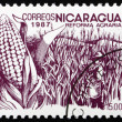 Postage stamp Nicaragua 1983 Coffee Beans, Agrarian Reform — Stock Photo #18576601